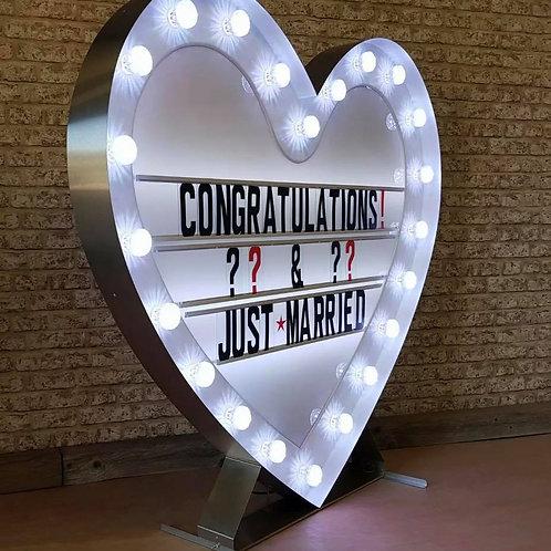 Light-up Heart Message Board