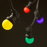 Festoon Lighting Colour Bulbs