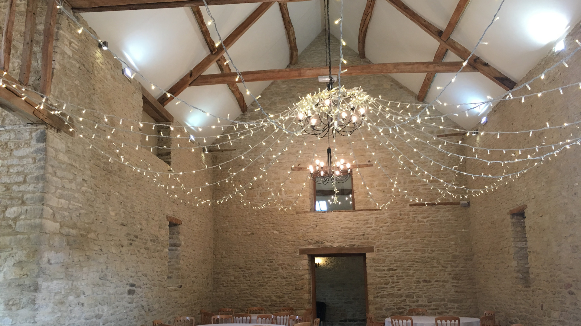 Wedding Barn Hire Fairy Lights