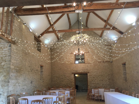 Fairy Lighting Kingscote barn 2.JPG