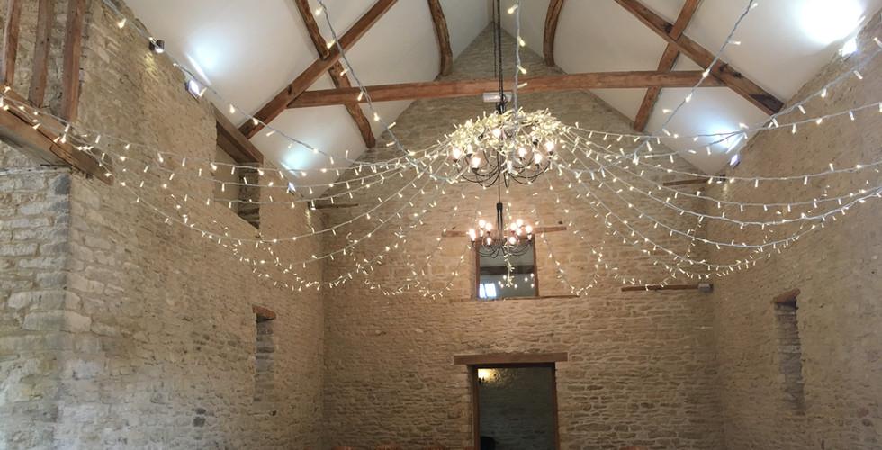 Wedding Barn Hire Fairy Lights