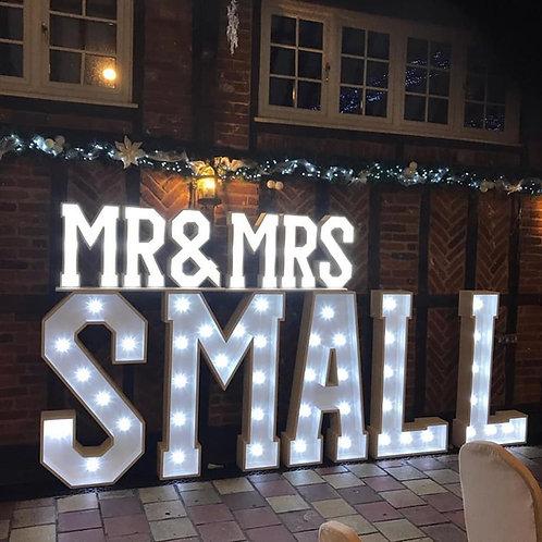 Surname & (Mr & Mrs) White