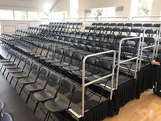 Tiered Seating with Folding Chairs