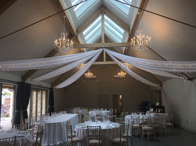 Fairy lighting & drape hire Blackwell gr