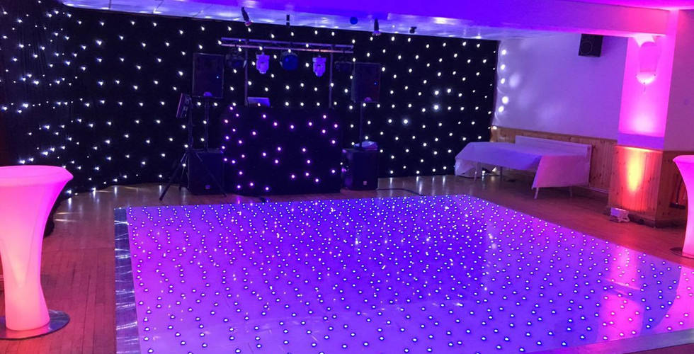 Blue Starlight dancefloor Hire Glouceste