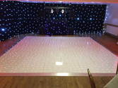 White Starlight dancefloor Hire Gloucest