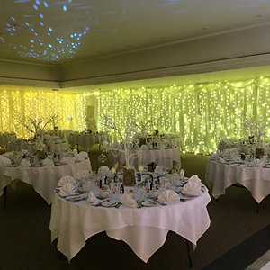 White Drape & Fairy Lighting