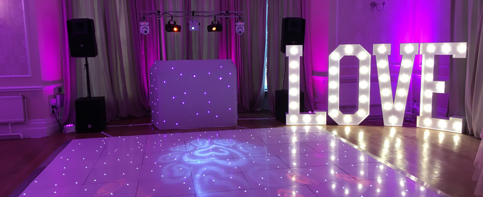 Eastington Park Dance floor love letters