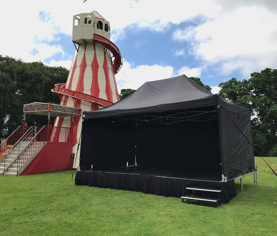 Outdoor stage festival hire