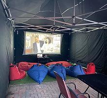 Party Tent Cinema Set up 1