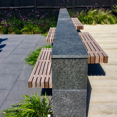Floating Benches and Stone Cladding Kent