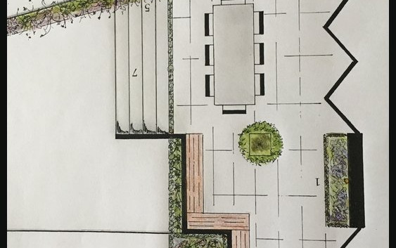 Garden Design Rear Sloping Aspect Oxted