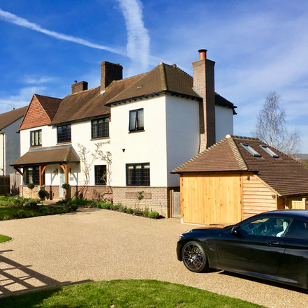 Front Driveway and Garden Design Oxted, Surrey