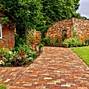 New Brickwork Walled Garden Design Berks