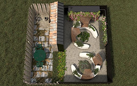 RHS Show Garden Concept - 'BEFORE & AFTE