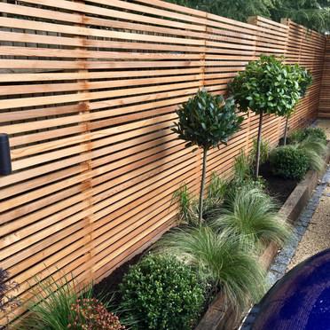 New Slatted Fence Surrey