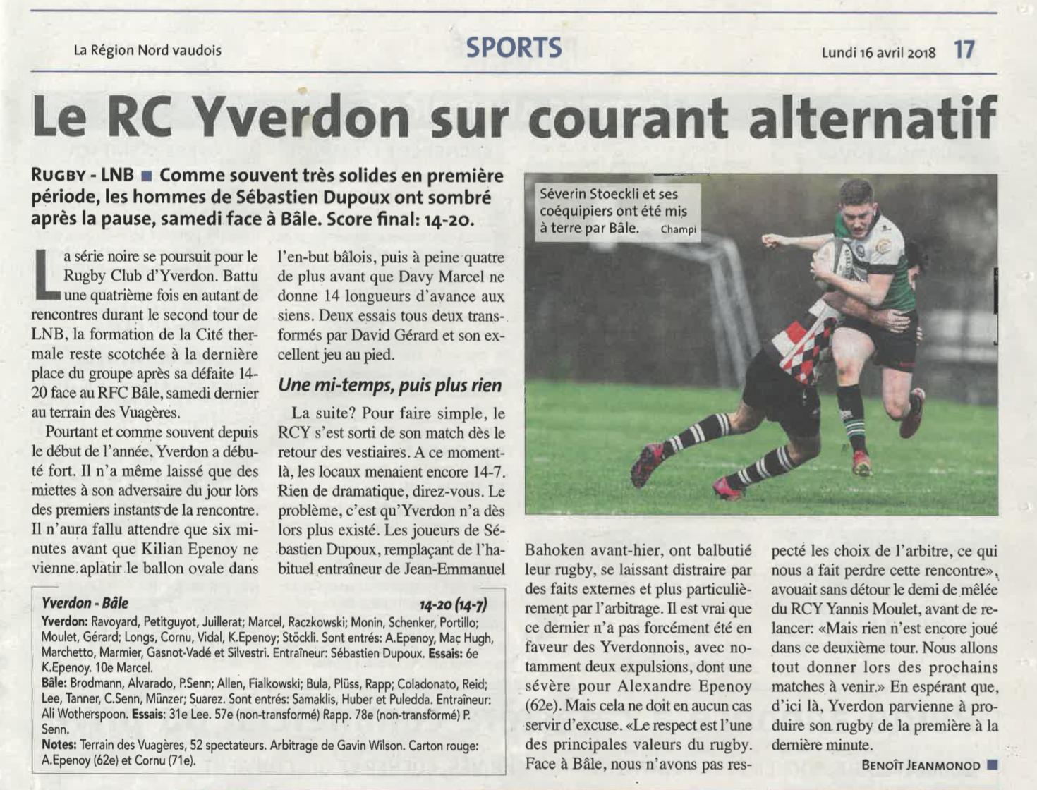 2018.04.16 RCY- RC Bâle