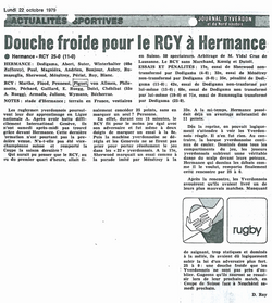 1979.10.22 RC HERMANCE - RCY