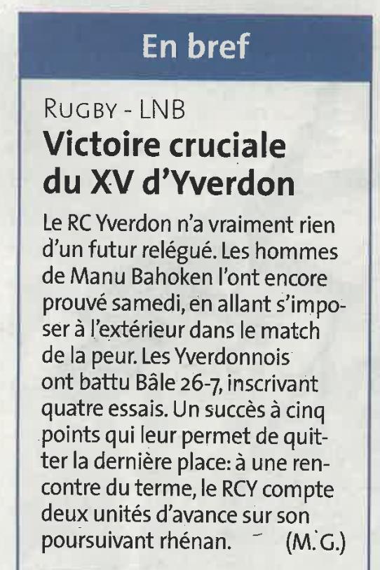 2018.05.30 RC Bâle- RCY