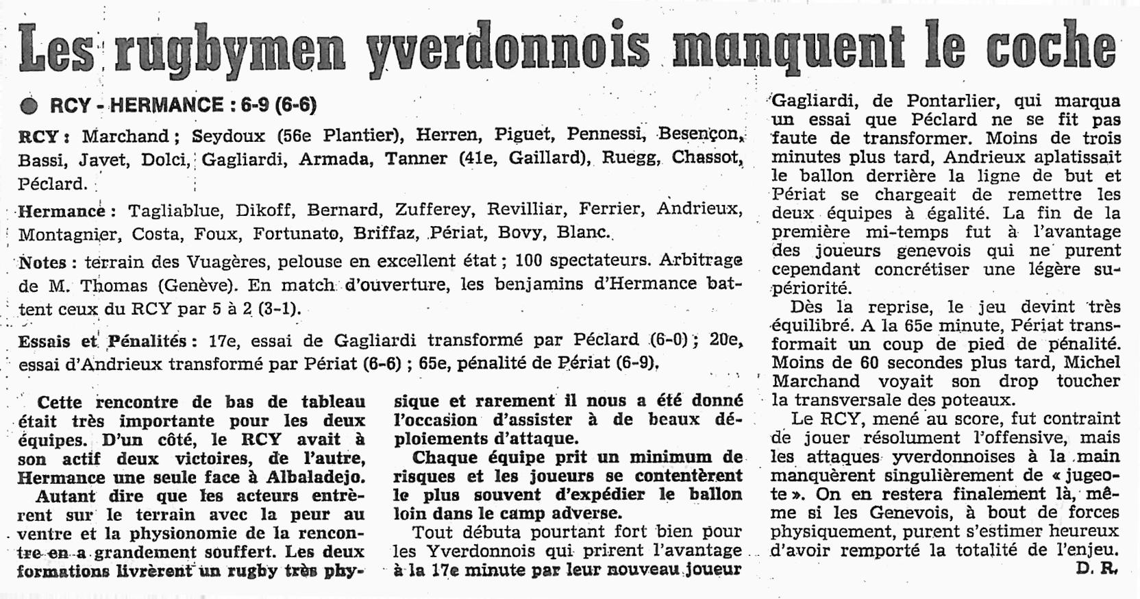 1980.11.08 RCY - RC HERMANCE
