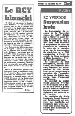 1979.10.13 Journal d'Yverdon, Le Matin