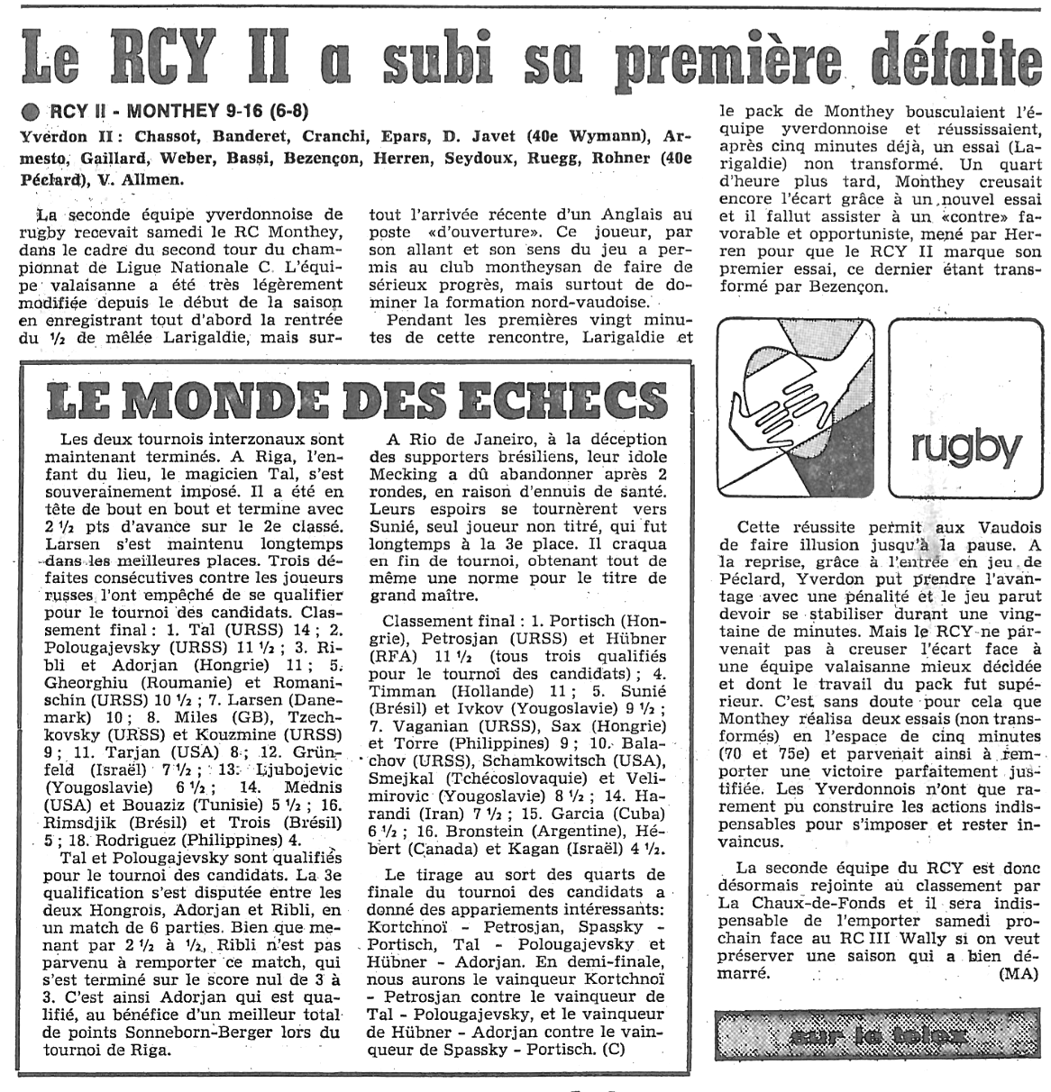 1979.11.28 RCY 2 - RC MONTHEY
