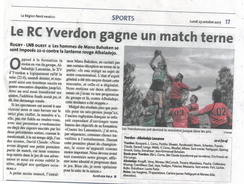 2017.10.23 RCY - RC Alba