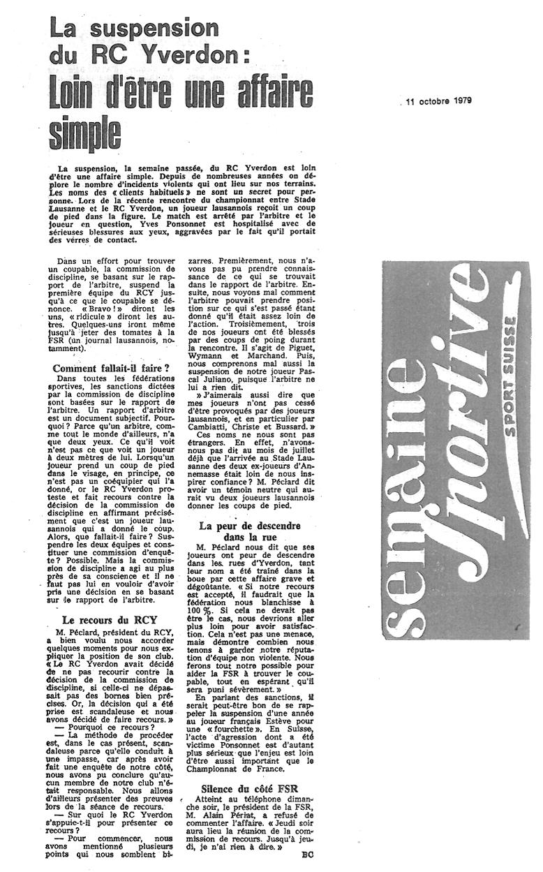 1979.10.11 Semaine sportive