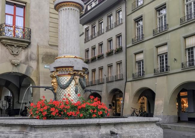 Mosesbrunnen auf dem Münsterplatz