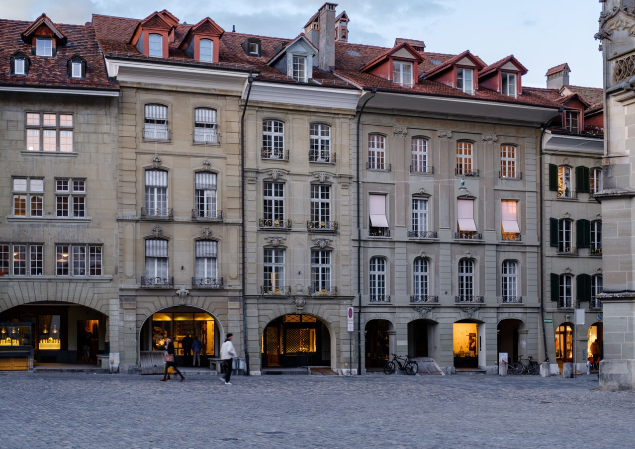 Münsterplatz am frühen Abend