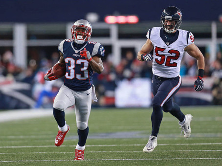 Patriots' Dion Lewis scores return, receiving and rushing touchdowns