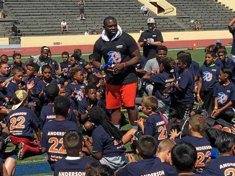 Bethel High graduate C.J. Anderson gives back to Vallejo with third annual free football camp