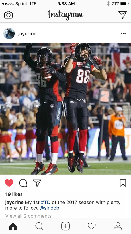 Criner plans to do some scoring in the CFL