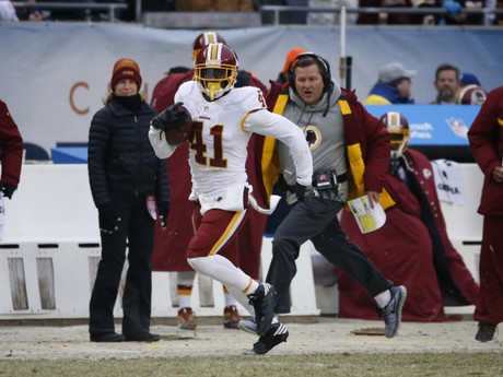 Redskins' Will Blackmon almost had a pick-six wearing the third-string QB's cleats