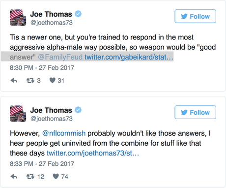 Joe Thomas has NFL Combine memories, and they're not fond