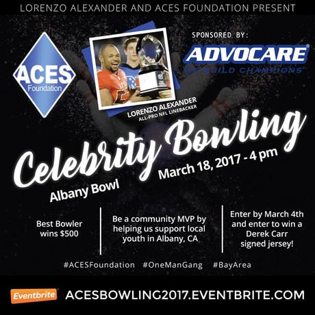 Lorenzo Alexander To Host Celebrity Bowling Event
