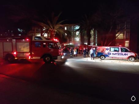 Last night my Flat caught Fire.