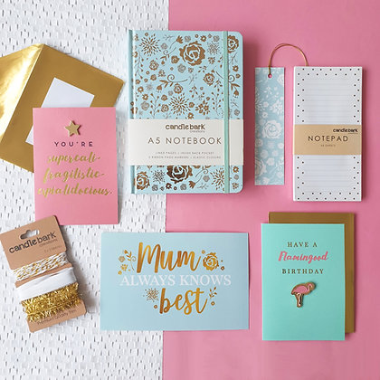 Mint Floral Stationery Box