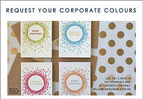 Custom Colours Corporate Christmas Cards