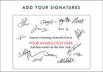 Corproate Christmas Card Signatures