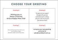Corporate Christmas Card Greeting Options