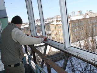 Остекление балконов  зимой при минусовой температуре