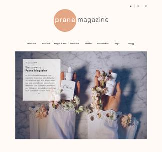 WEBPAGE // PRANA MAGAZINE