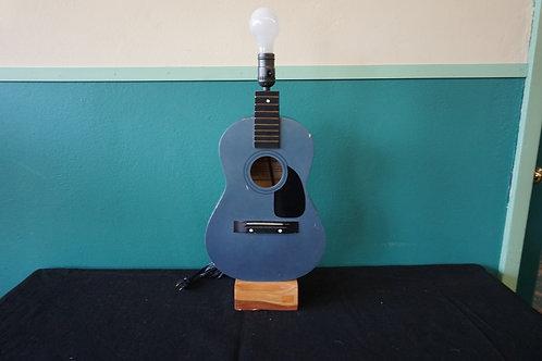 Blue guitar lamp