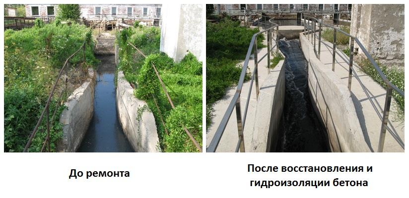 Гидроизоляция канала песколовки