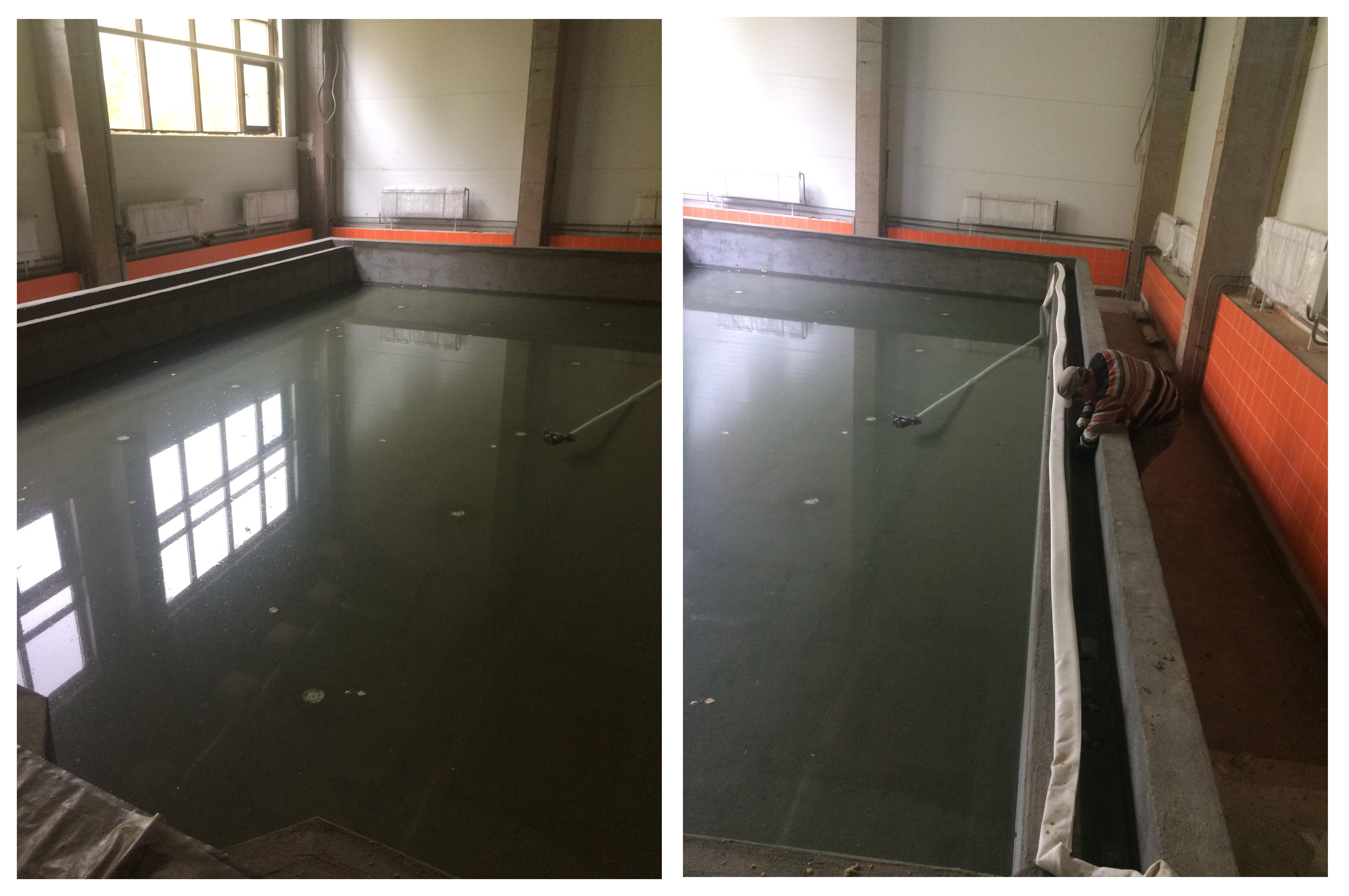 Испытание чаши бассейна после гидроизоляции