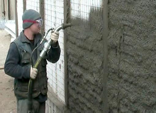 Усиление стены методом торкретирования