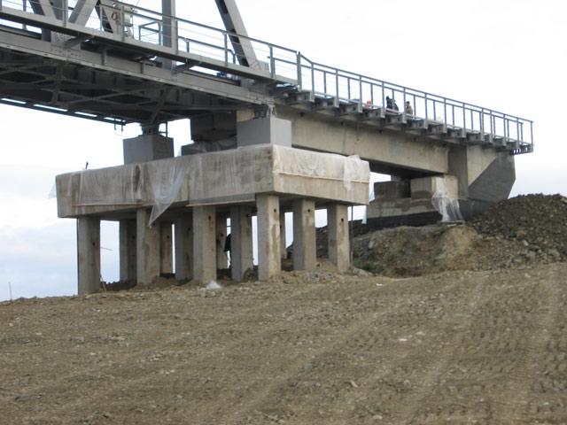 Усиление опор моста