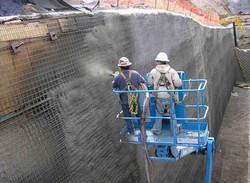 Восстановление и усиление стены методом торкретирования
