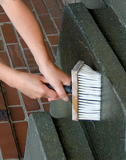 Нанесение проникающего состава неа бетон